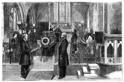 The Funeral of Benjamin Disraeli (1804-188), British Prime Minister, Late 19th Century--Giclee Print