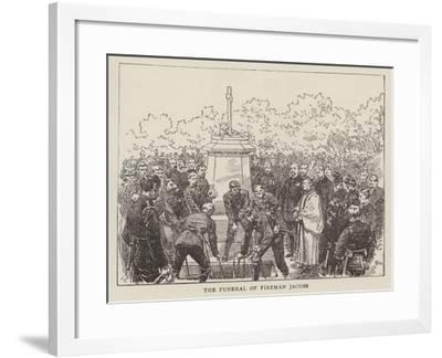 The Funeral of Fireman Jacobs--Framed Giclee Print