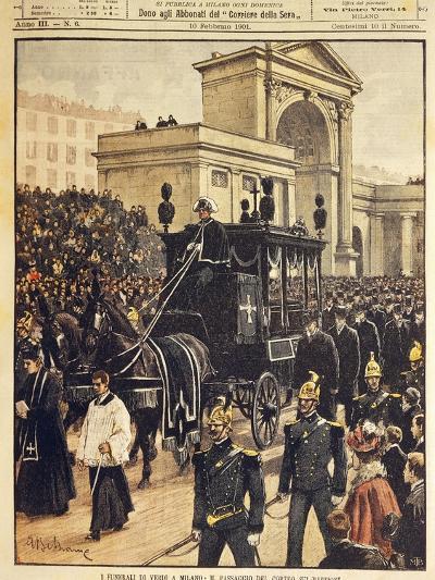 The Funeral of Giuseppe Verdi, Milan, 10th February 1901--Giclee Print
