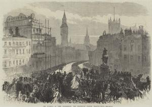 The Funeral of Lord Palmerston, the Procession Passing Charing-Cross