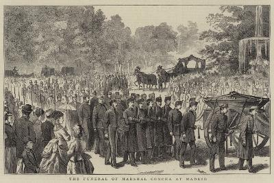 The Funeral of Marshal Concha at Madrid--Giclee Print