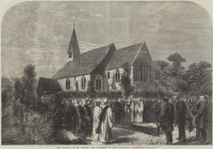 The Funeral of Mr Cobden, the Interment in West Lavington Churchyard