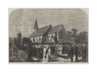 The Funeral of Mr Cobden, the Interment in West Lavington Churchyard--Giclee Print