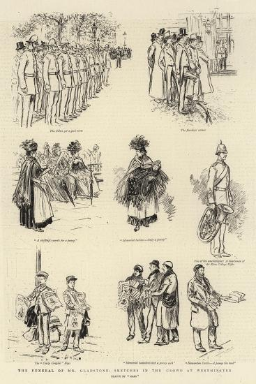 The Funeral of Mr Gladstone; Sketches in the Crowd at Westminster--Giclee Print