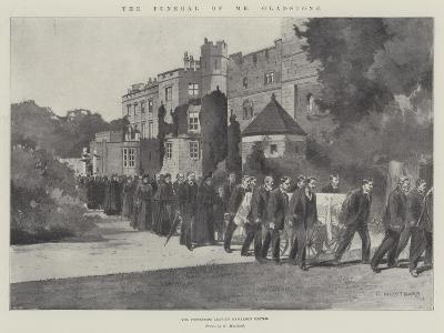 The Funeral of Mr Gladstone, the Procession Leaving Hawarden Castle-Charles Auguste Loye-Giclee Print
