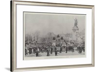 The Funeral of President Faure, the Procession Passing the Place De La Republique-Frederic De Haenen-Framed Giclee Print