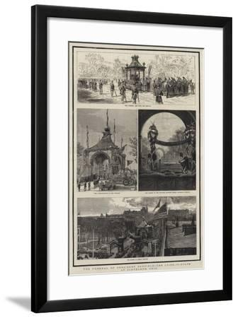 The Funeral of President Garfield, the Lying-In-State at Cleveland, Ohio-Joseph Nash-Framed Giclee Print