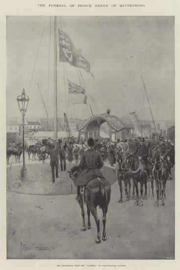 The Funeral of Prince Henry of Battenberg, the Procession from the Alberta to Whippingham Church-Joseph Holland Tringham-Giclee Print