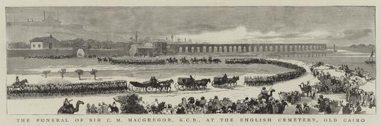 The Funeral of Sir C M Macgregor, Kcb at the English Cemetery, Old Cairo--Giclee Print