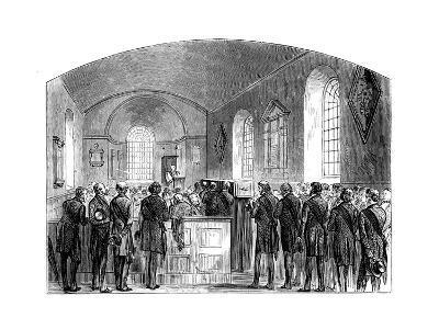 The Funeral of Sir Robert Peel, Staffordshire, 1850--Giclee Print