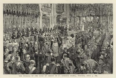 The Funeral of the Duke of Albany in St George's Chapel, Windsor, 5 April 1884--Giclee Print