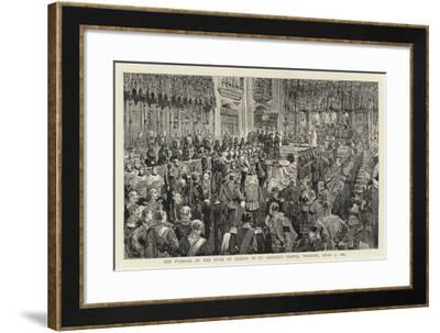 The Funeral of the Duke of Albany in St George's Chapel, Windsor, 5 April 1884--Framed Giclee Print