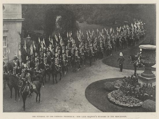 The Funeral of the Empress Frederick, Her Late Majesty's Hussars in the Procession--Giclee Print