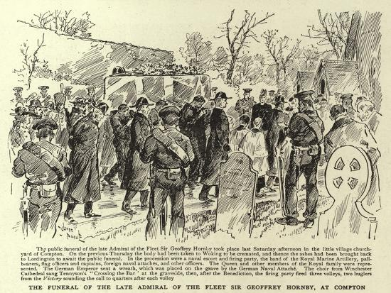 The Funeral of the Late Admiral of the Fleet Sir Geoffrey Hornby, at Compton--Giclee Print