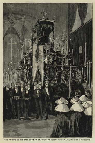 The Funeral of the Late Comte De Chambord at Goritz, the Catafalque in the Cathedral--Giclee Print
