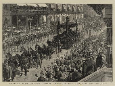 The Funeral of the Late General Grant in New York, the Funeral Car Passing Down Fifth Avenue--Giclee Print