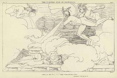 The Funeral Pile of Patroclus-John Flaxman-Giclee Print