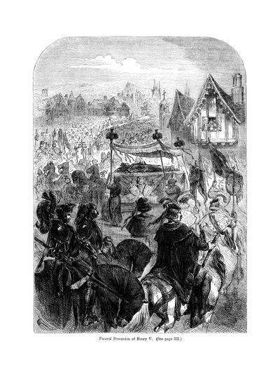 The Funeral Procession of King Henry V, 1422--Giclee Print
