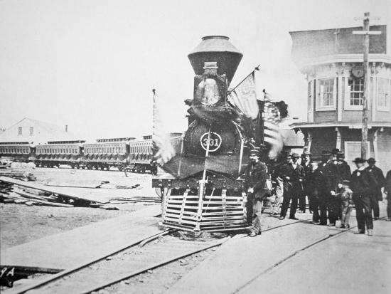 The Funeral Train Carrying President Lincoln S Giclee Print By