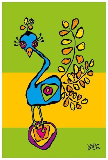 The Funny Bird-Yaro-Art Print