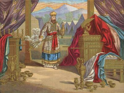 The Furniture of the Tabernacle-English School-Giclee Print