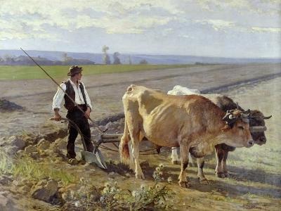 The Furrow, 1897-Edouard Debat-Ponsan-Giclee Print