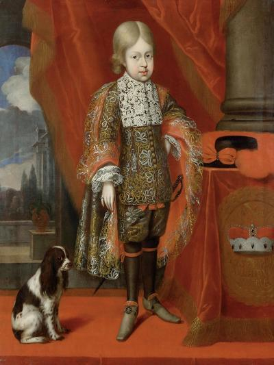 The Future Emperor Joseph I (1678-171) at the Age of Six with a Dog, 1684, 1684-Benjamin von Block-Giclee Print