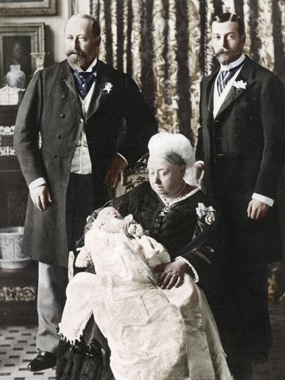 The Future King Edward Viiis Christening Day, 16 July 1894--Photographic Print