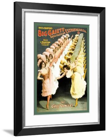 The Gaiety Dancers--Framed Art Print
