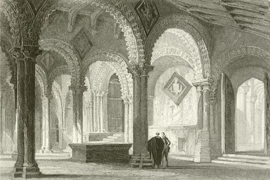 The Galilee, West End of Durham Cathedral-Thomas Allom-Giclee Print