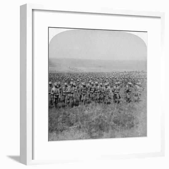 The Gallant Guards Brigade Marching on Brandfort, Boer War, South Africa, 1901-Underwood & Underwood-Framed Giclee Print