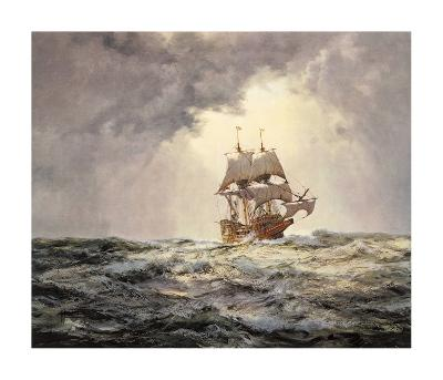 The Gallant 'Mayflower'-Montague Dawson-Premium Giclee Print