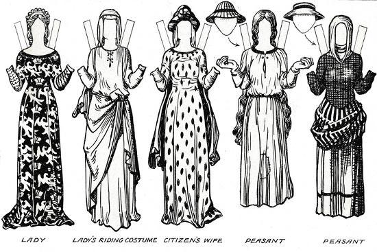 'The Gallery of British Costume: Dress Worn in the Reign of the First Edward', c1934-Unknown-Giclee Print