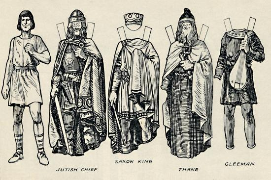 'The Gallery of British Costume: How The People Dressed in Anglo-Saxon Times', c1934-Unknown-Giclee Print