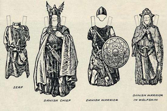 'The Gallery of British Costume: The Dress of Danes & Later Anglo-Saxons', c1934-Unknown-Giclee Print