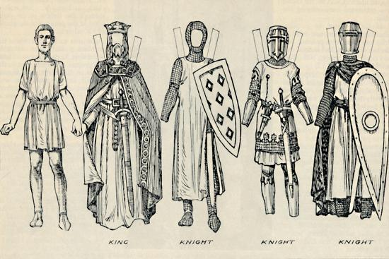'The Gallery of British Costume: Types of Dress in Early Plantagenet Times', c1934-Unknown-Giclee Print