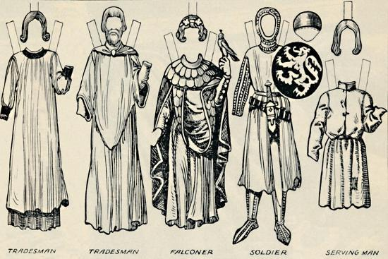 'The Gallery of British Costume: What Men and Women Wore In Henry III's Time', c1934-Unknown-Giclee Print