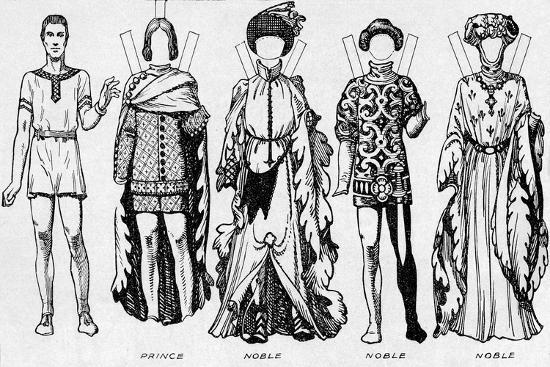 'The Gallery of Costume: Dresses Worn in the Last Years of Edward III's Reign', c1934-Unknown-Giclee Print
