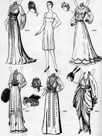 'The Gallery of Historic Costume: Dresses Worn During the Twentieth Century', c1934-Unknown-Giclee Print