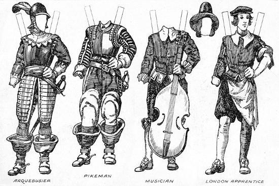 'The Gallery of Historic Costume: Some Dresses of Cavaliers and Roundheads', c1934-Unknown-Giclee Print