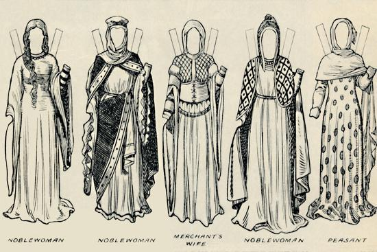 'The Gallery of Historic Costume: The Dresses Worn in the Days of Richard I', c1934-Unknown-Giclee Print