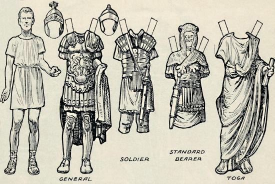 'The Gallery of Historic Costume: What The Britons and Romans Used To Wear', c1934-Unknown-Giclee Print