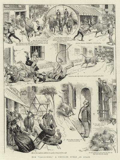 The Gallumbo, a Popular Sport in Spain--Giclee Print
