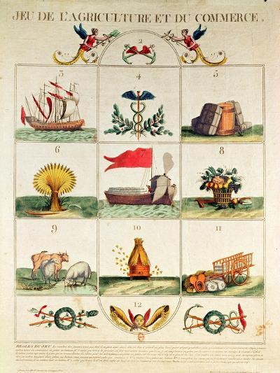 The Game of Agriculture and Commerce, Late 18th Century--Giclee Print