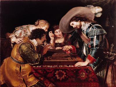 The Game of Backgammon-Cornelis de Vos-Giclee Print
