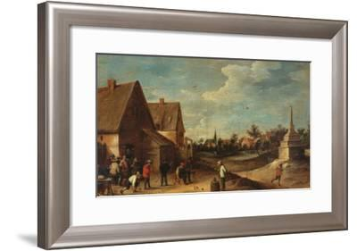 The Game of Bowls-David Teniers the Younger-Framed Giclee Print