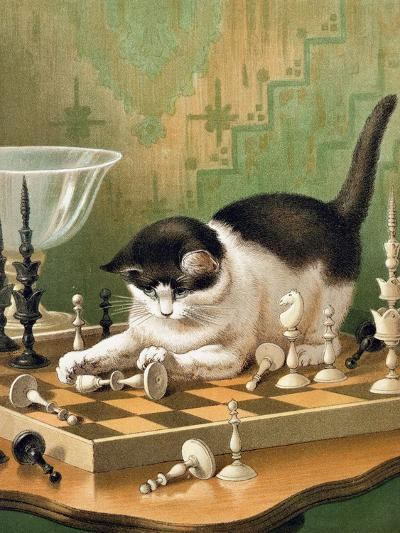 The Game of Chess--Giclee Print