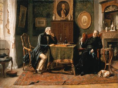 The Game of Chess-Gerard Portielje-Giclee Print