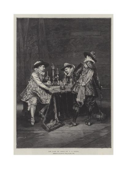 The Game of Chess-Adolphe Alexandre Lesrel-Giclee Print