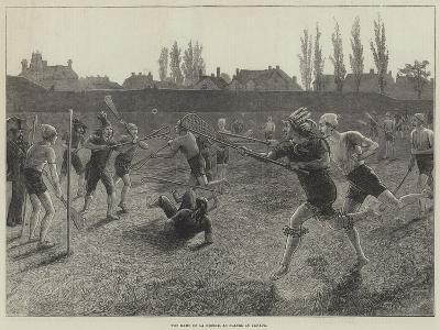 The Game of La Crosse, as Played in Canada--Giclee Print